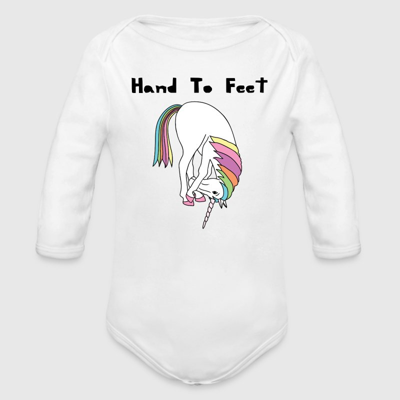 Yoga Unicorn Hand To Feet Pose Baby Bodysuits - Long Sleeve Baby Bodysuit