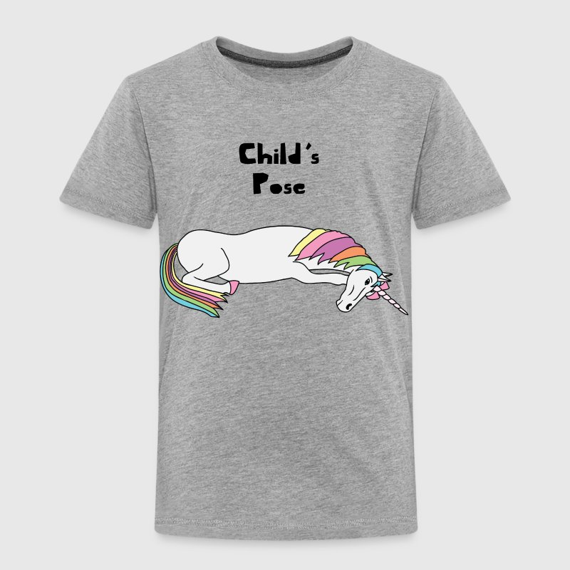 Yoga Unicorn Child's Pose  Baby & Toddler Shirts - Toddler Premium T-Shirt