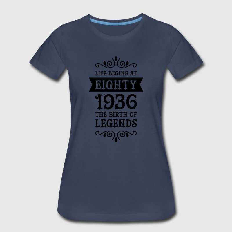 Life Begins At Eighty - 1936 The Birth Of Legends Women's T-Shirts - Women's Premium T-Shirt