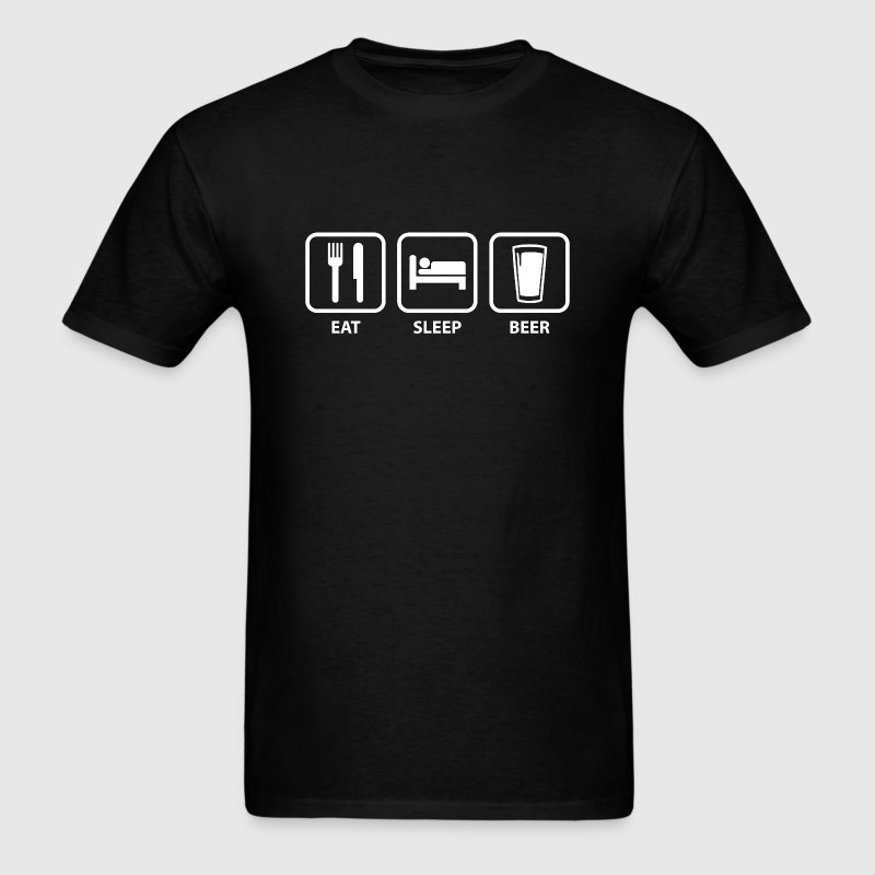 Eat Sleep Beer - Men's T-Shirt