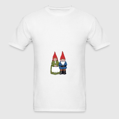 Gnome Couple: Original Illustration - Men's T-Shirt