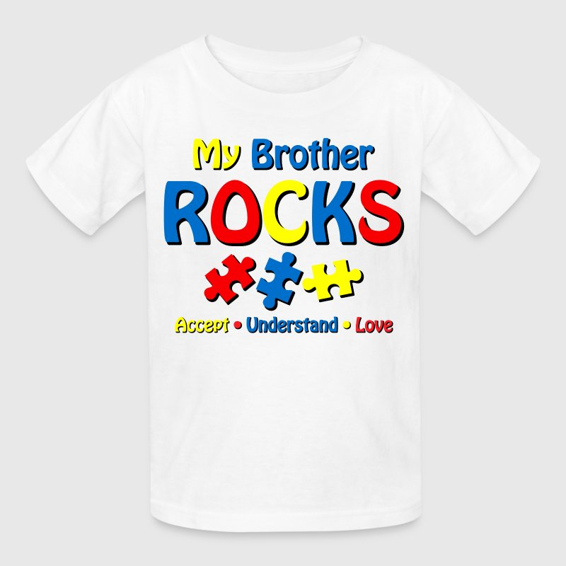 Autistic Brother Rocks Kids' Shirts - Kids' T-Shirt