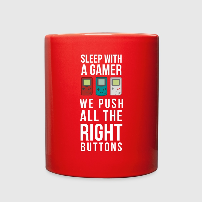Gaming Sleep with a Gamer T Shirt Mugs & Drinkware - Full Color Mug