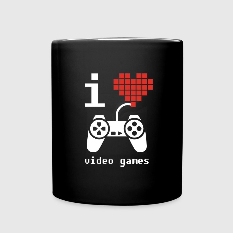 I Love Video Games Gamer T Shirt Mugs & Drinkware - Full Color Mug