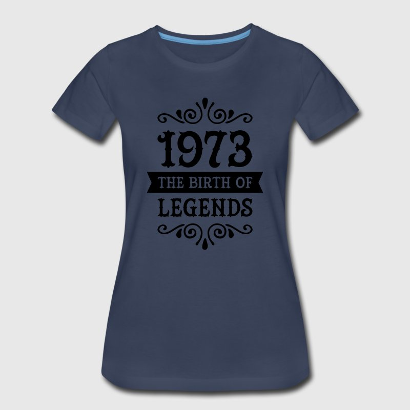 1973 - The Birth Of Legends Women's T-Shirts - Women's Premium T-Shirt