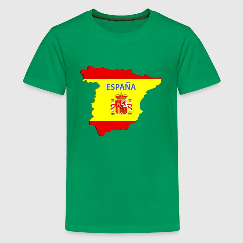 Spain map Kids' Shirts - Kids' Premium T-Shirt