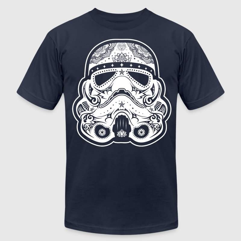 Storm Trooper Sugar Skull T-Shirts - Men's Fine Jersey T-Shirt