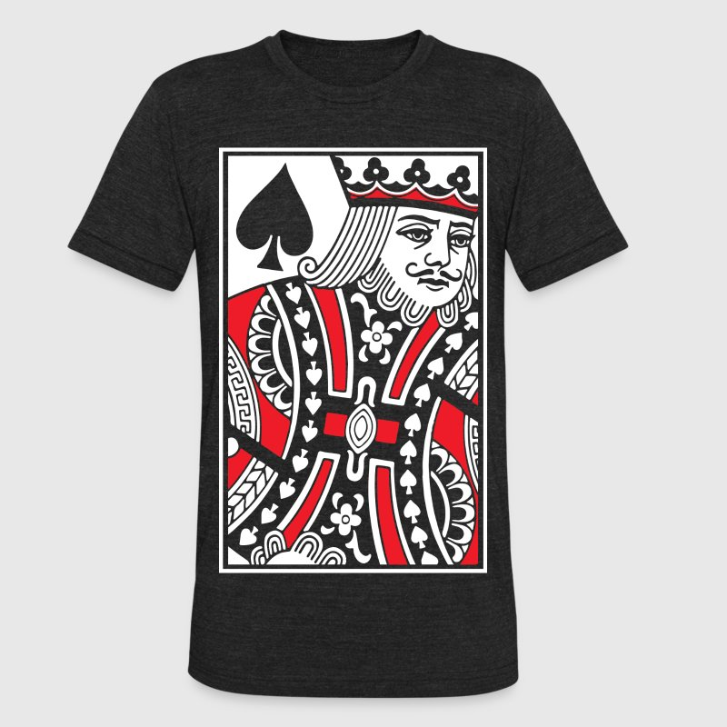 Kings of Spades Playing Card T-Shirts - Unisex Tri-Blend T-Shirt by American Apparel