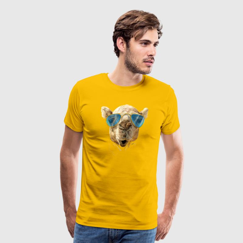Camel with sunglasses T-Shirts - Men's Premium T-Shirt