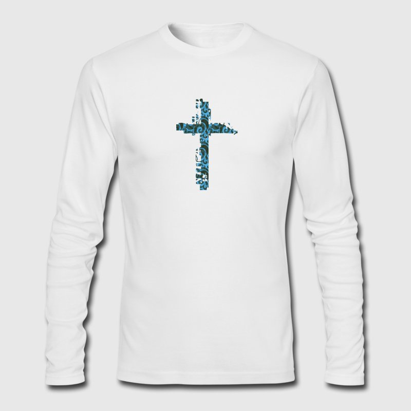 Jesus Cross Long Sleeve Shirts - Men's Long Sleeve T-Shirt by Next Level