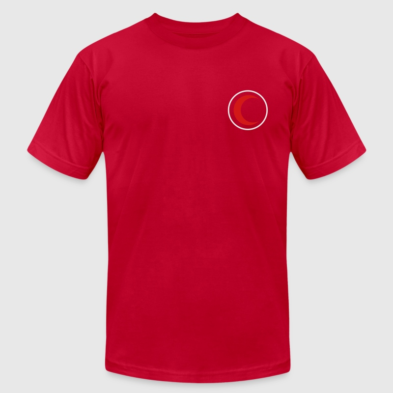 Red Crescent T-Shirts - Men's T-Shirt by American Apparel