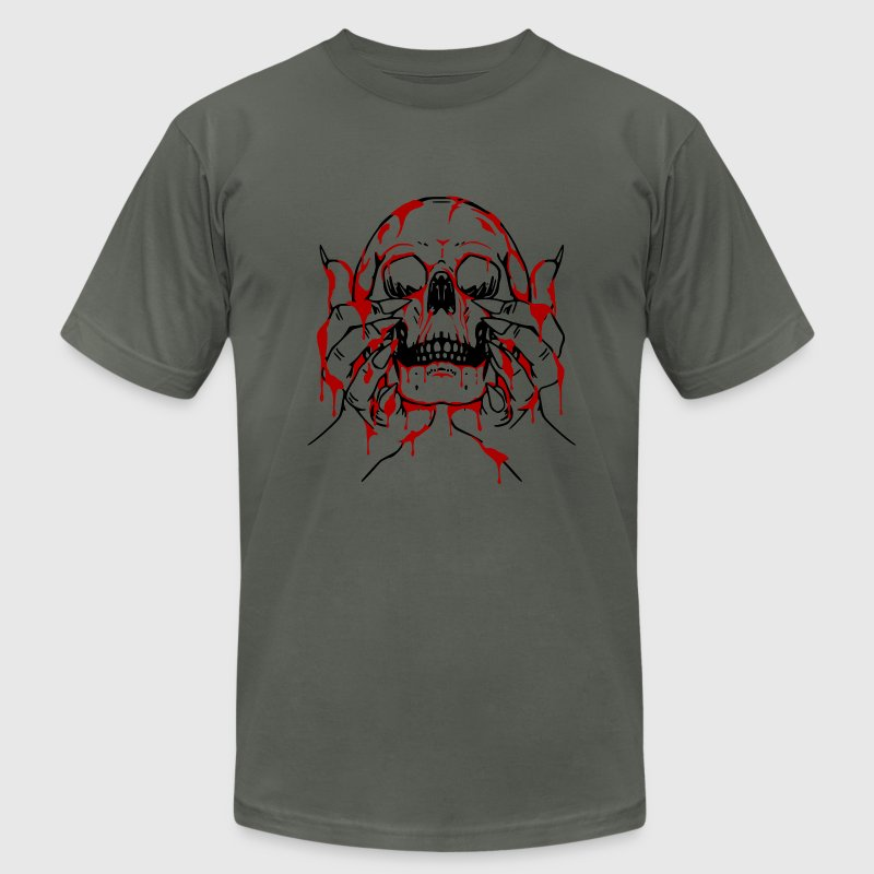 Bloody Skull Offering T-Shirts - Men's T-Shirt by American Apparel