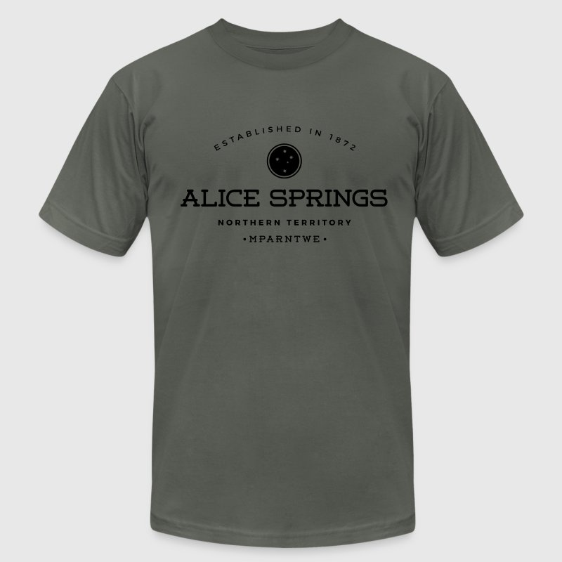 Alice Springs T-Shirts - Men's T-Shirt by American Apparel