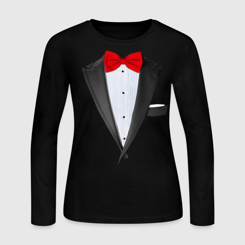 Realistic Tuxedo T Shirt Long Sleeve Shirts - Women's Long Sleeve Jersey T-Shirt