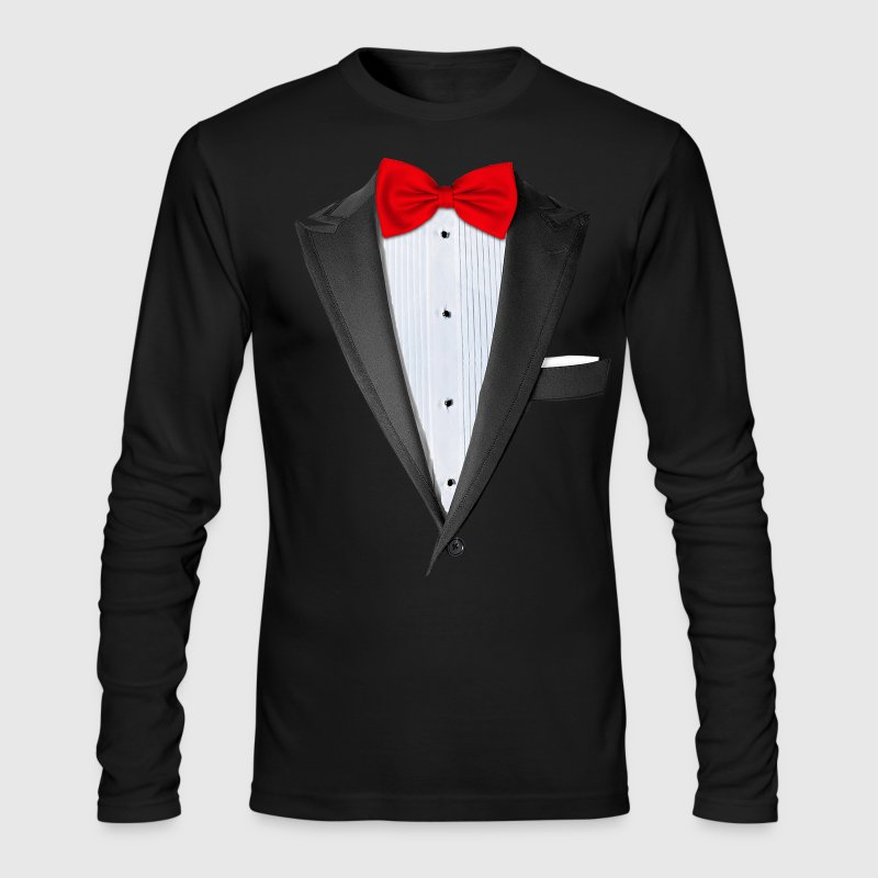 Realistic Tuxedo T Shirt Long Sleeve Shirts - Men's Long Sleeve T-Shirt by Next Level