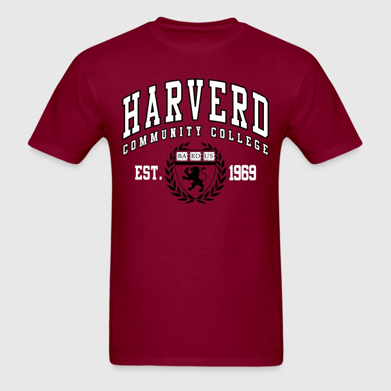 Joke Shirt: Harverd Community College(MIsspelled) T-Shirts - Men's T-Shirt