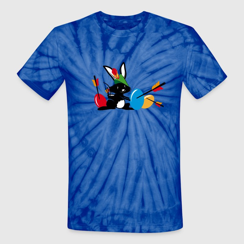 Easter bunny with a bow and arrow T-Shirts - Unisex Tie Dye T-Shirt