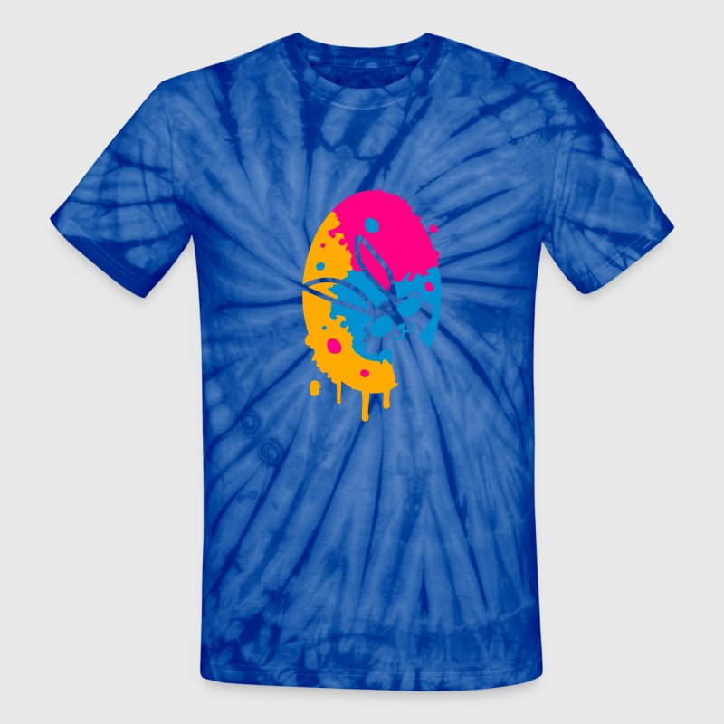 colorful graffiti Easter Egg T-Shirts - Unisex Tie Dye T-Shirt