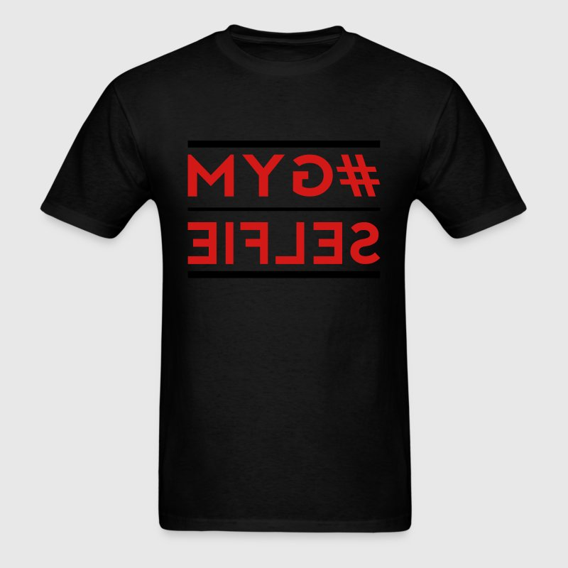 gym selfie mirrored T-Shirts - Men's T-Shirt