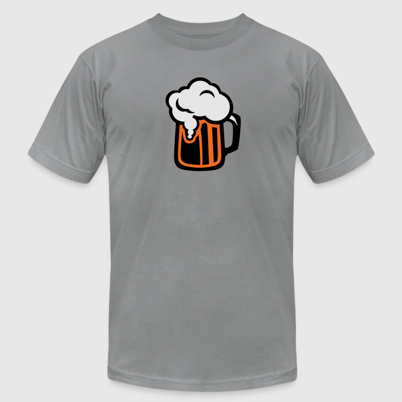 beer alcohol logo icon drawing 312 T-Shirts - Men's T-Shirt by American Apparel