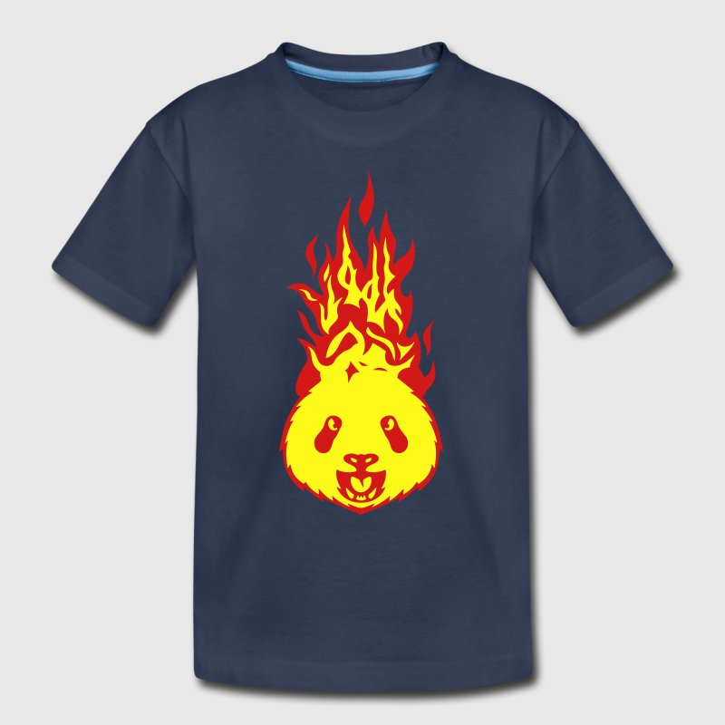 panda fire flame head 310 Kids' Shirts - Kids' Premium T-Shirt
