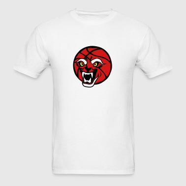 ball basketball cartoon face fierce jaws Sportswear - Men's T-Shirt