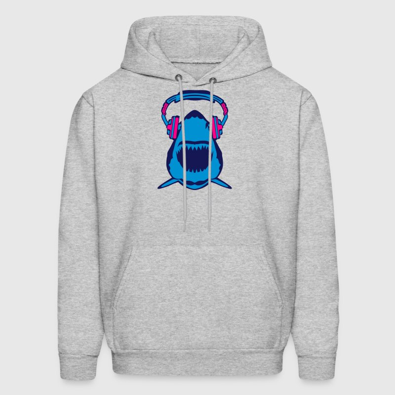 shark jaws audio music headphones skull Hoodies - Men's Hoodie
