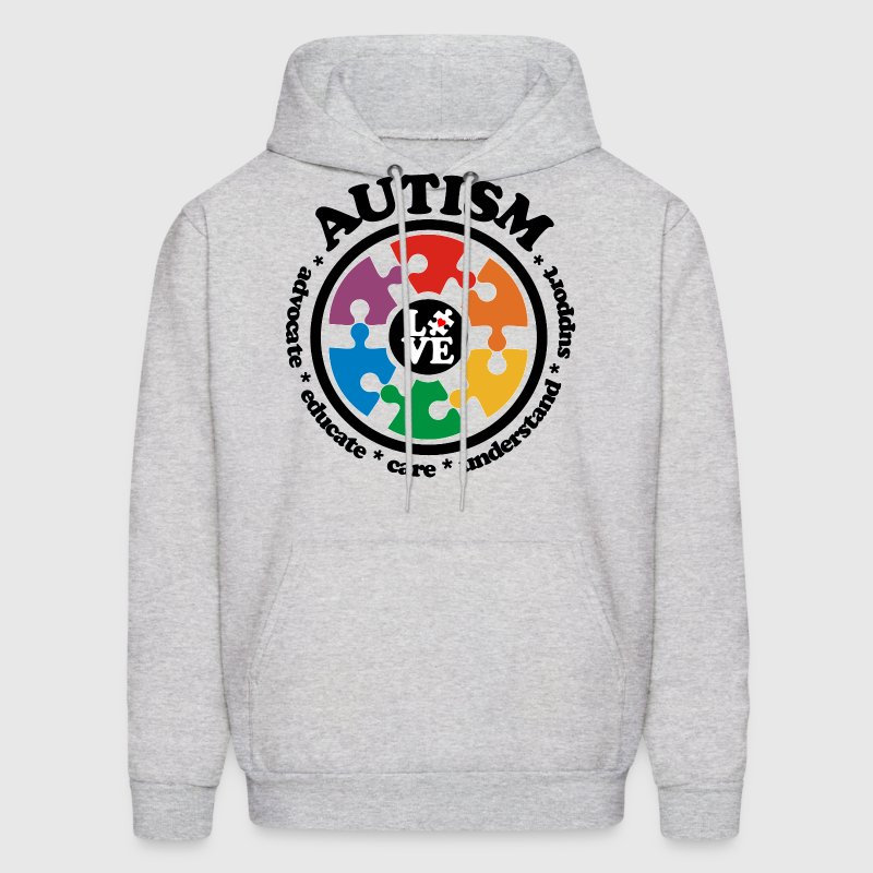LOVE Autism Awareness - Men's Hoodie - Men's Hoodie