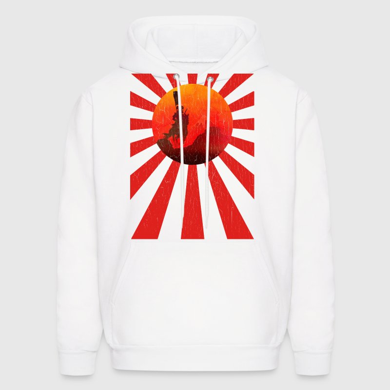 Samurai Rising Sun Flag (vintage look) - Men's Hoodie