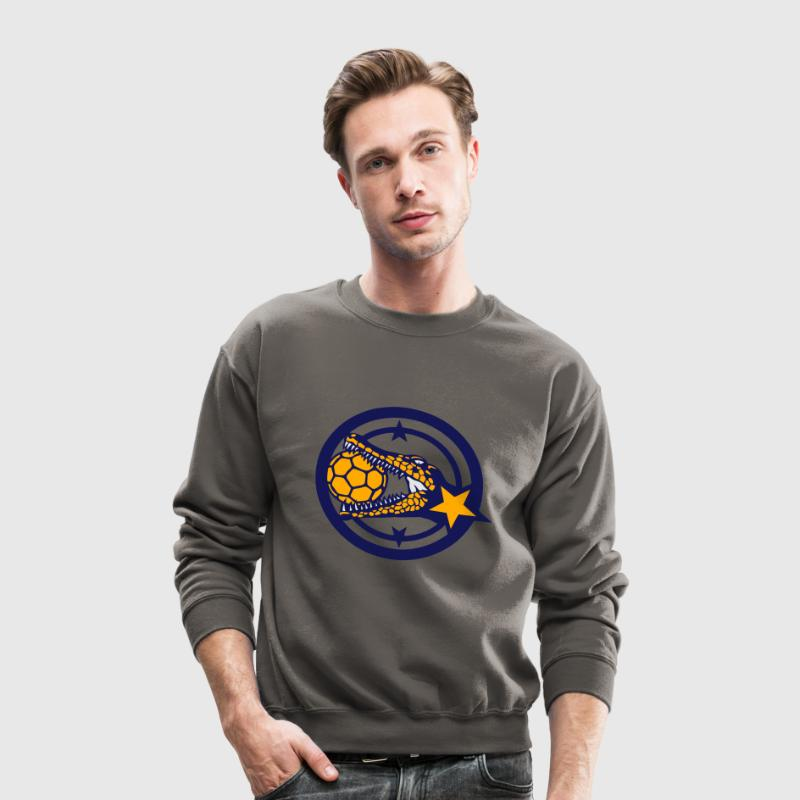 handball ball club crocodile logo Long Sleeve Shirts - Crewneck Sweatshirt