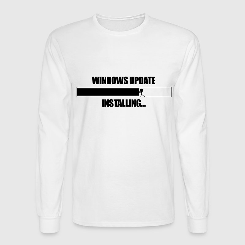 Windows Update VS Stickman  - Men's Long Sleeve T-Shirt
