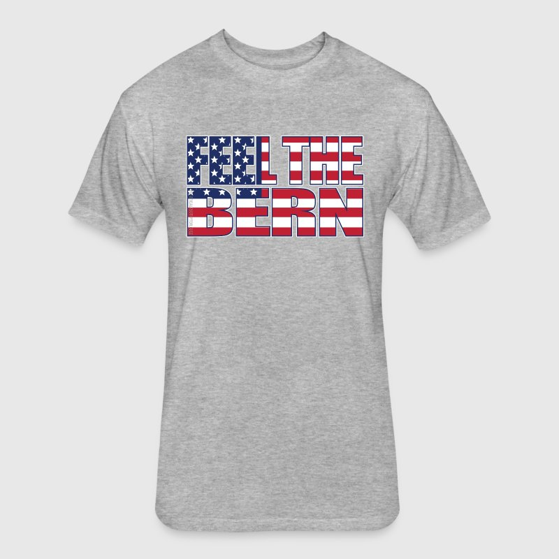 Feel the Bern American Flag - Fitted Cotton/Poly T-Shirt by Next Level