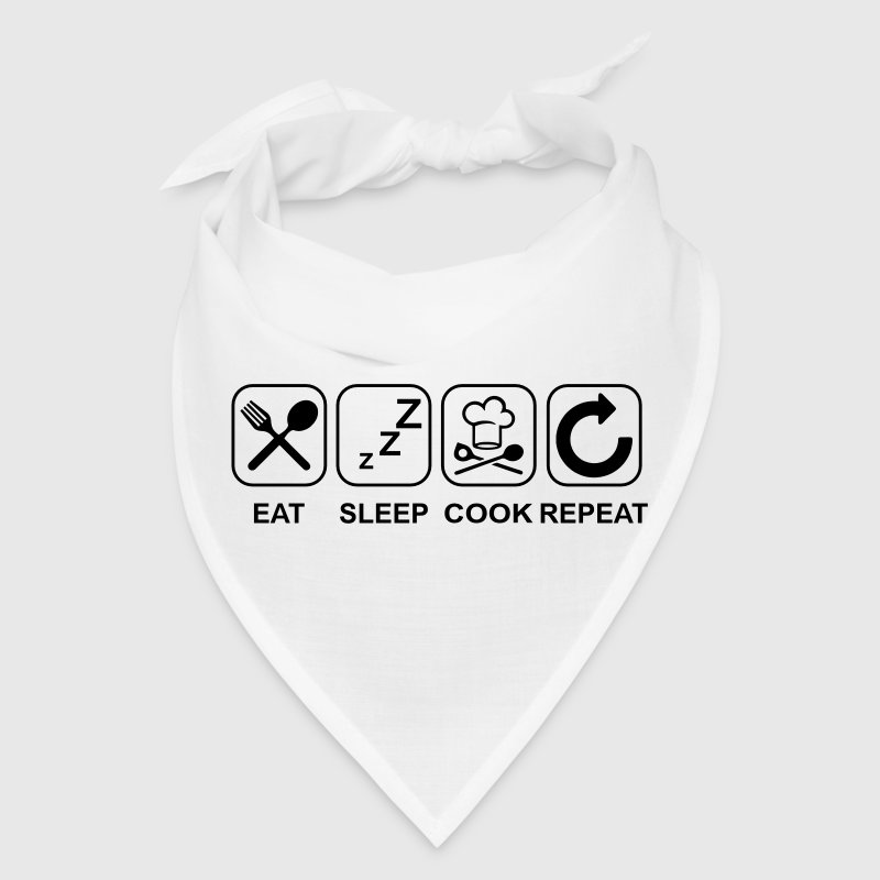Eat Sleep Cook Repeat Caps - Bandana
