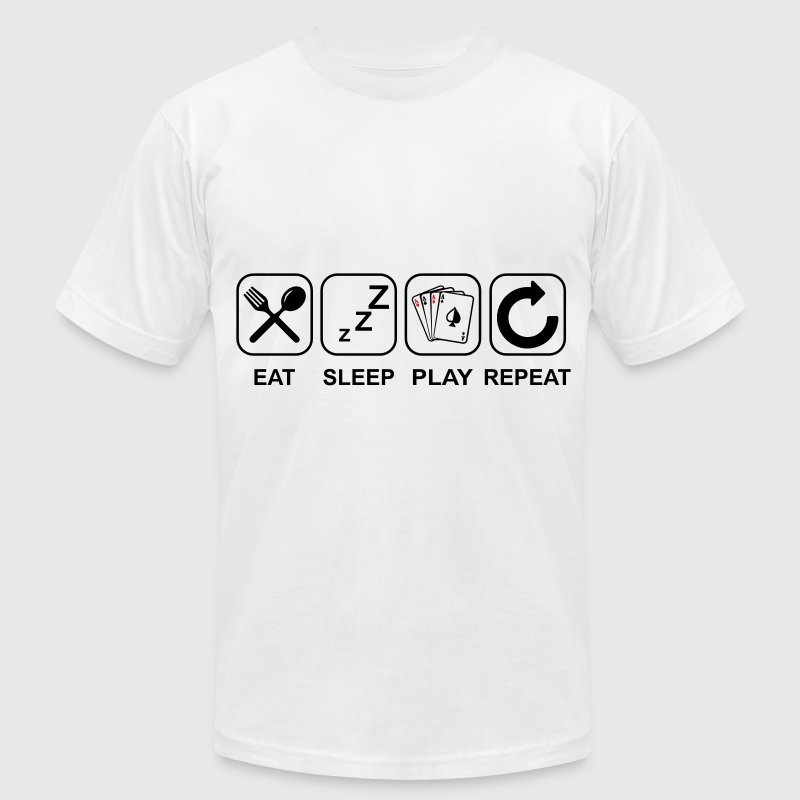 Eat Sleep Poker Repeat T-Shirts - Men's Fine Jersey T-Shirt