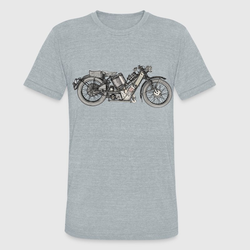 1929 Scott Super Squirrel motorcycle - Unisex Tri-Blend T-Shirt by American Apparel