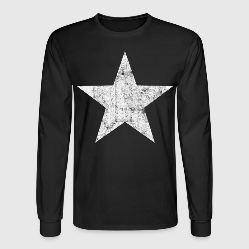 White Star Long Sleeve Shirts - Men's Long Sleeve T-Shirt