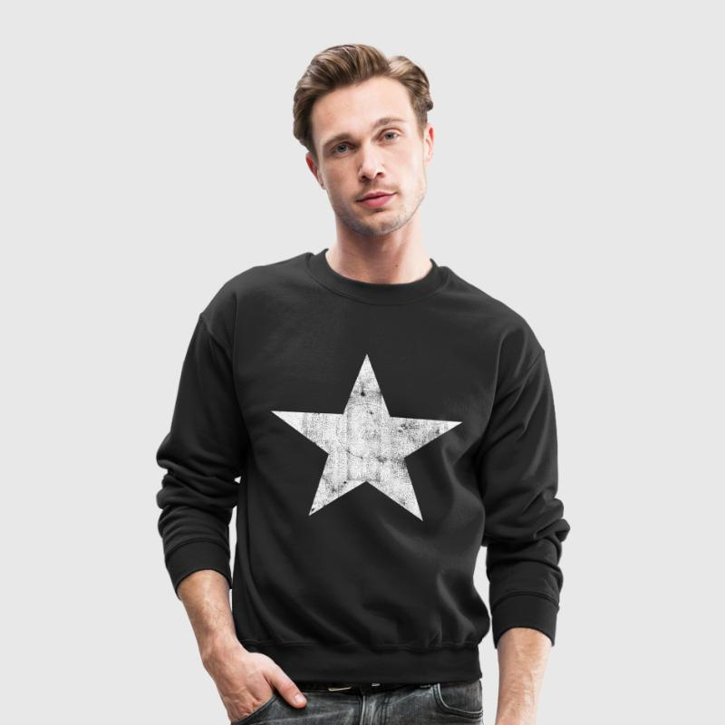 White Star Long Sleeve Shirts - Crewneck Sweatshirt