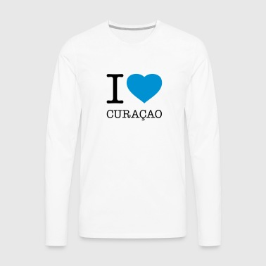 I LOVE CURAÇAO - Men's Premium Long Sleeve T-Shirt