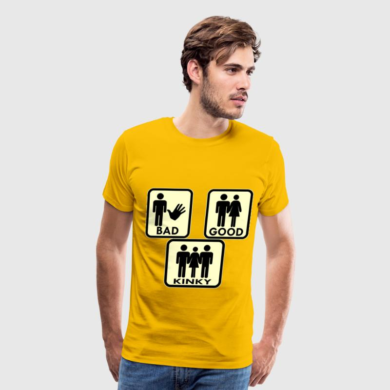 Sexy, Bad, Good, Kinky & 3Some MFM - Men's Premium T-Shirt