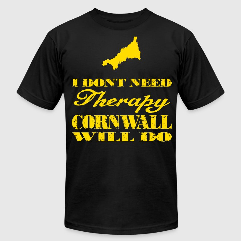 Don't need therapy/Cornwall T-Shirts - Men's Fine Jersey T-Shirt