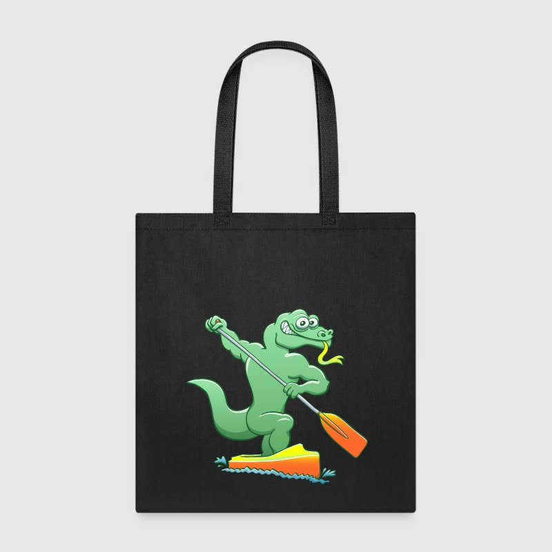 Water Monitor Competing in a Canoe Sprint Event Bags & backpacks - Tote Bag