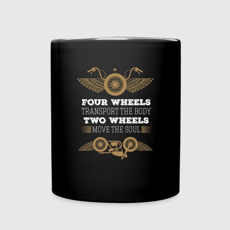 Motorcycle Two wheels move the soul Biker T Shirt Mugs & Drinkware - Full Color Mug