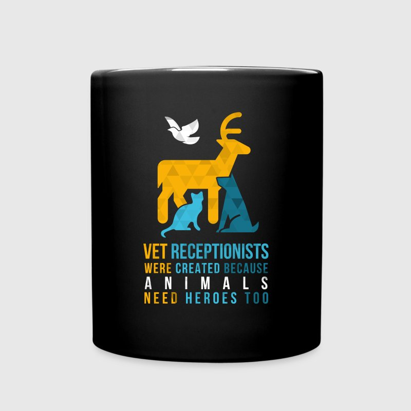 Vet Receptionist Heroes Veterinary T Shirt Mugs & Drinkware - Full Color Mug