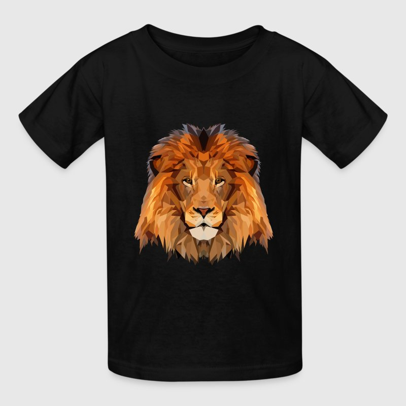 Lion Low Poly Art Kids' Shirts - Kids' T-Shirt