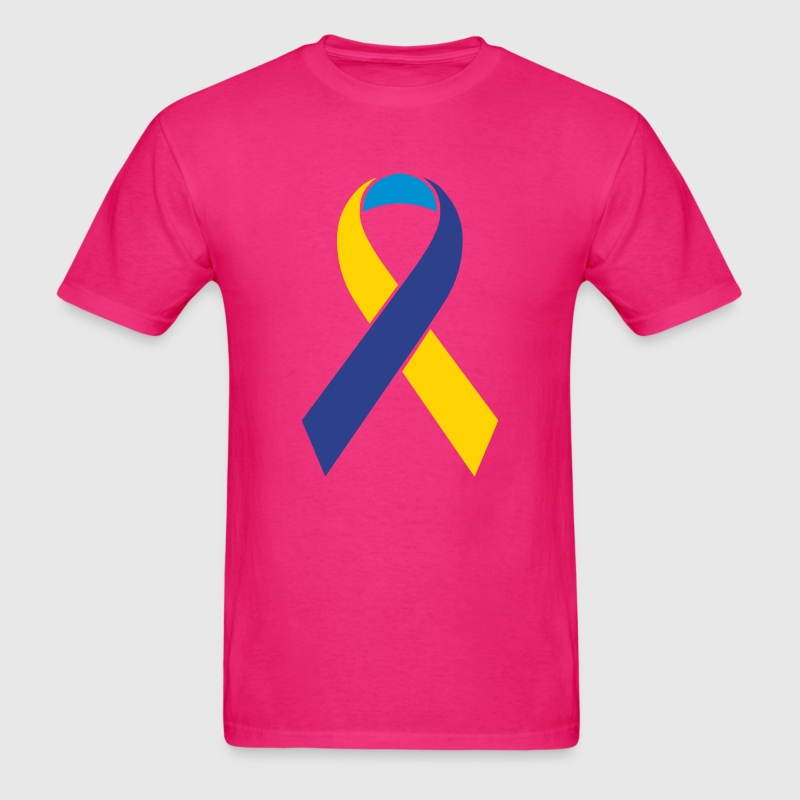 Custom Color Cause Awareness Ribbon 3 Color T-Shirts - Men's T-Shirt