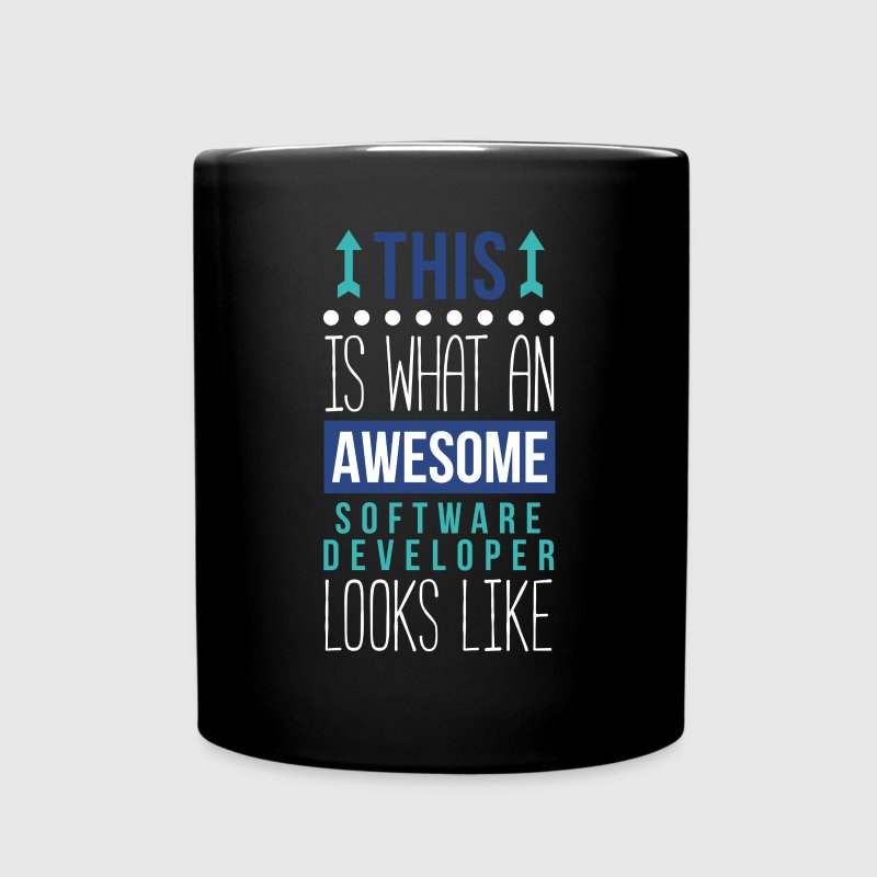 Awesome Software Developer Professions T Shirt Mugs & Drinkware - Full Color Mug