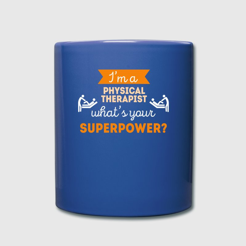 Physical Therapist Superpower Professions T Shirt Mugs & Drinkware - Full Color Mug
