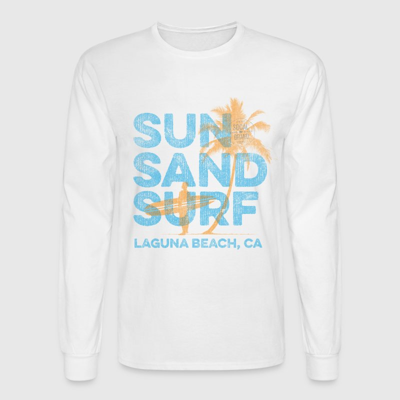 Sun, Sand, Surf - Laguna Beach Long Sleeve T-shirt - Men's Long Sleeve T-Shirt