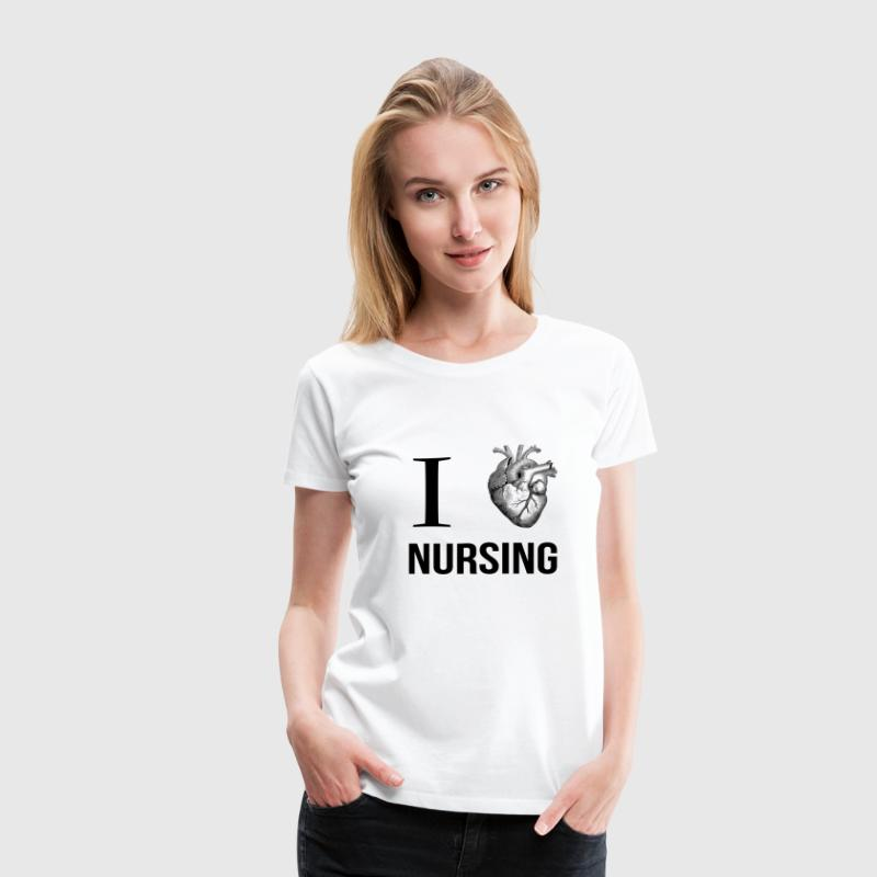 I HEART NURSING - Women's Premium T-Shirt