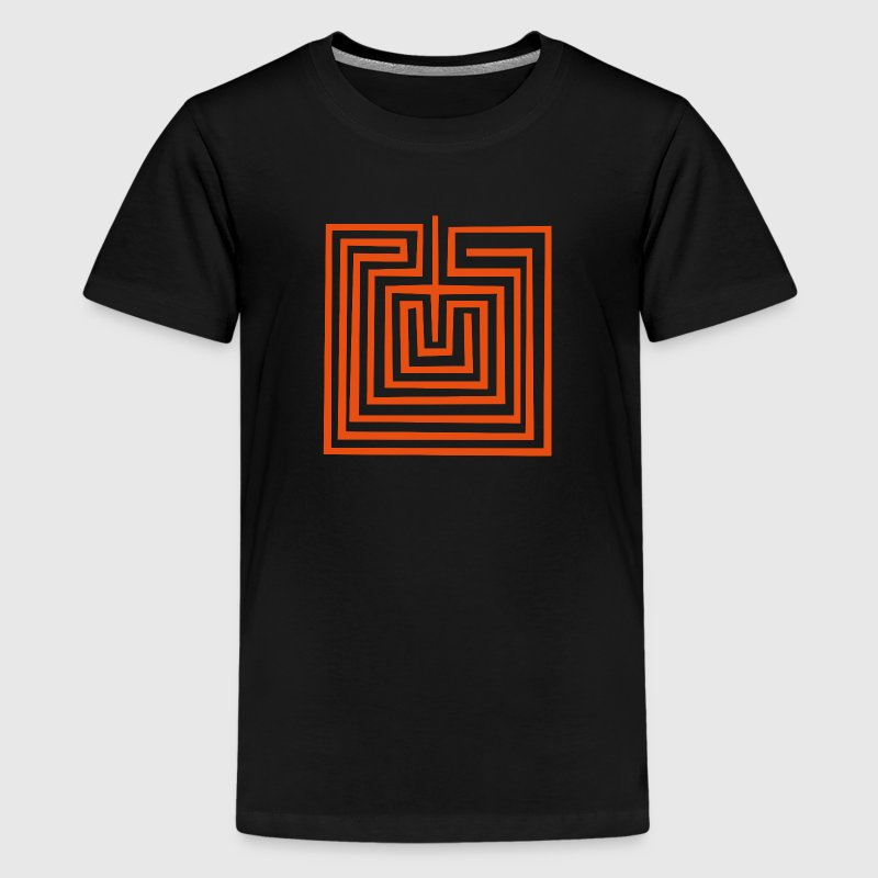 Mother Earth or Maze - Hopi Native American Symbol - Kids' Premium T-Shirt
